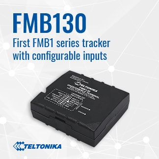 FMB130 – First Teltonika tracker with configurable inputs.