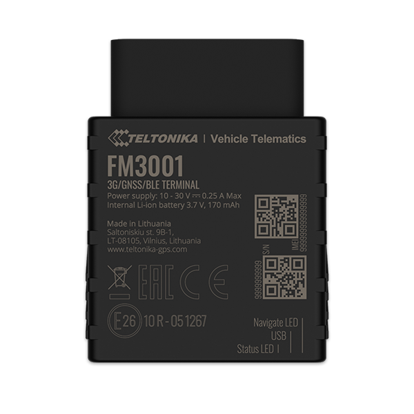 FM3001 - 3G Bluetooth OBD GPS Tracker
