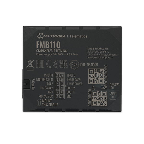 FMB110 - 2G Bluetooth Advanced GPS Tracker
