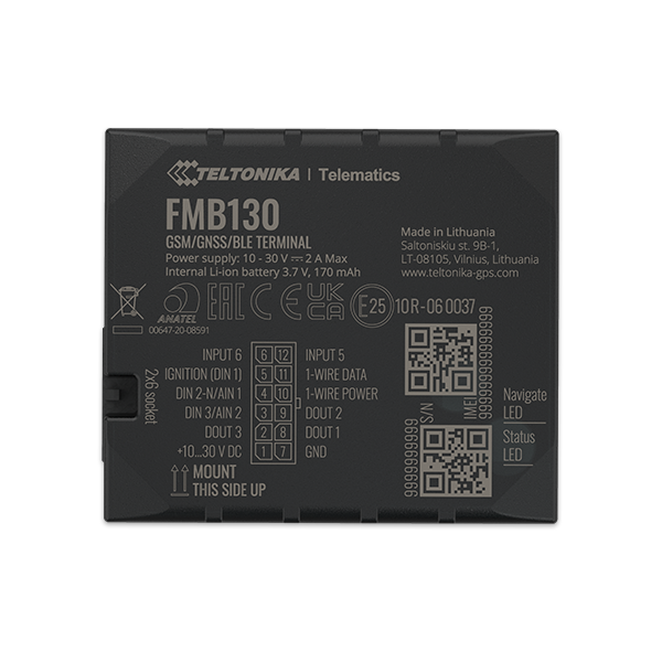 FMB130 - 2G Bluetooth Advanced GPS Tracker
