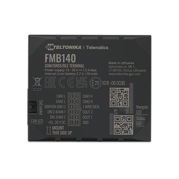 FMB140 - 2G Bluetooth Advanced GPS Tracker