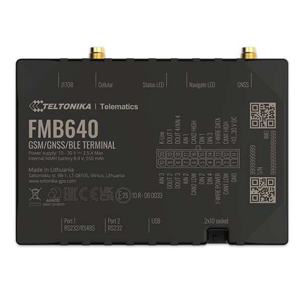 FMB640 - 2G Bluetooth Professional GPS Tracker