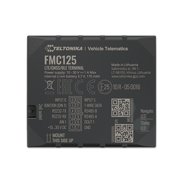 FMC125 - 4G LTE Bluetooth GPS Tracker