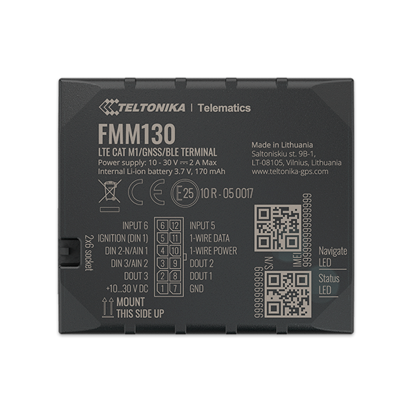 FMM130 - CAT M1 Bluetooth Advanced GPS Tracker